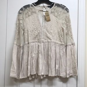 American eagle outfitters beige boho lace